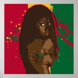Menina de Rasta Posters