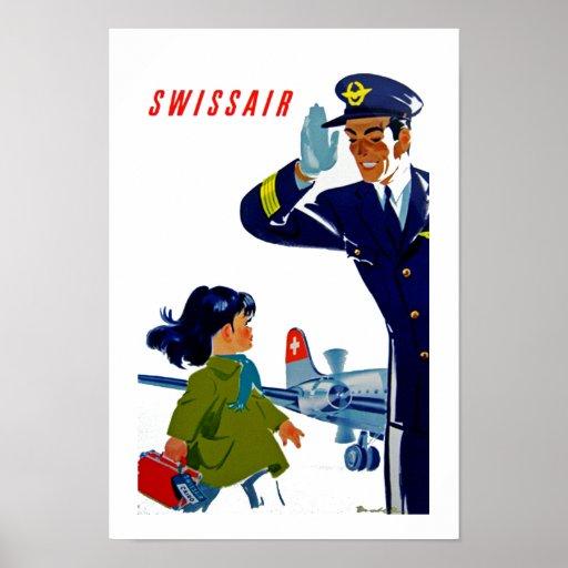 Menina de Swissair Pôsteres