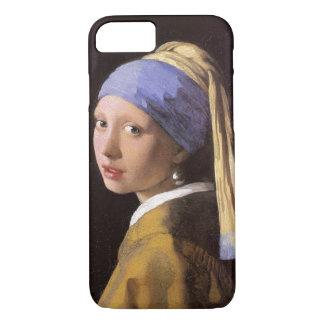 Menina de Vermeer com o brinco da pérola Capa iPhone 7