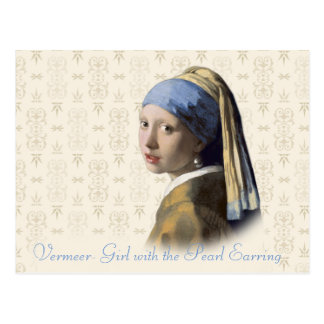 Menina de Vermeer- com o brinco da pérola Cartão Postal