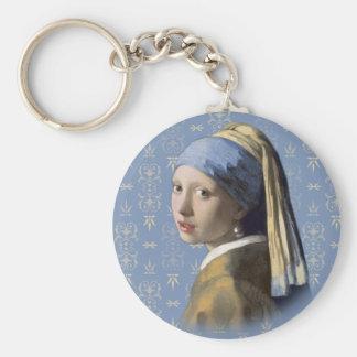 Menina de Vermeer- com o brinco da pérola Chaveiro