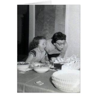 Menina do aniversário cartoes