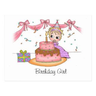 Menina do aniversário - cartão cartão postal