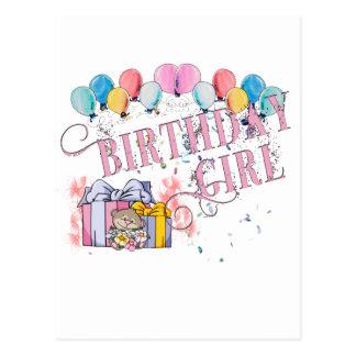 Menina do aniversário cartão postal