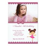 Menina do aniversário da bailarina convites personalizados