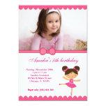 Menina do aniversário da bailarina convites personalizado