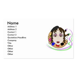 Menina do artista com olhos de Brown Modelo Cartão De Visita