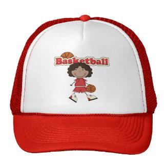 Menina do basquetebol, afro-americano boné
