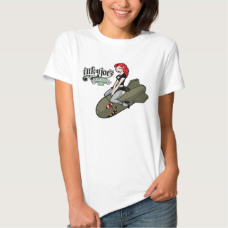 Menina do bombardeiro camisetas