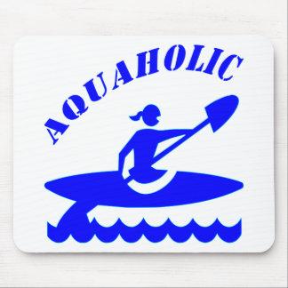 Menina do caiaque de Aquaholic Mouse Pad