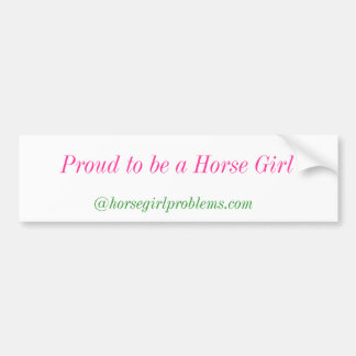 Menina do cavalo adesivo para carro