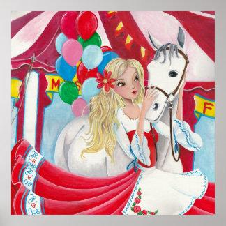 Menina do circo e cavalo - poster