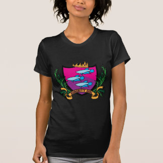 Menina do círculo estudantil feminino t-shirt