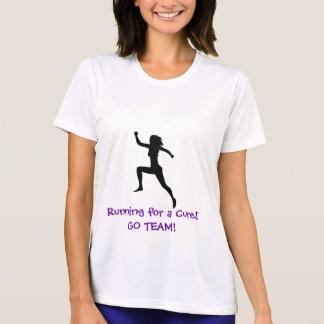 menina do corredor funcionando para uma cura VA T-shirt