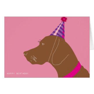 Menina do feliz aniversario cartão comemorativo