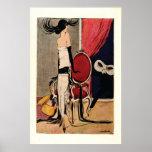 Menina do Flapper do 1920 do art deco Poster