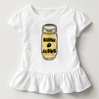 Menina do frasco de pedreiro de Jesus do brilho 4 T-shirt