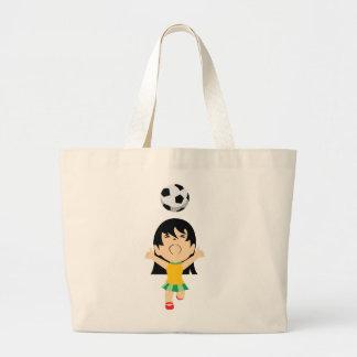Menina do futebol sacola tote jumbo