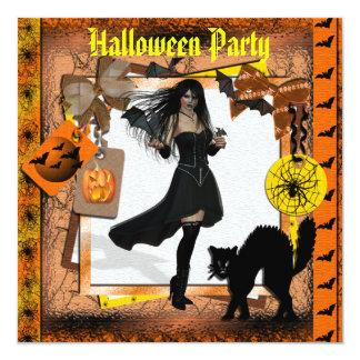 Menina do gótico, bastões & partido bonitos do Dia Convites Personalizado
