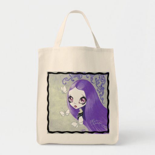 "Menina do gótico: ""Violetta "" Bolsa Para Compras"