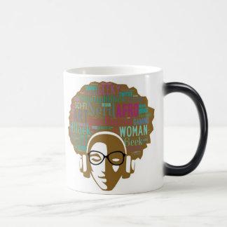 Menina do nerd do Afro: Caneca Morphing