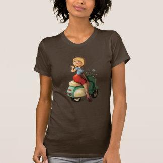 Menina do patinete camisetas