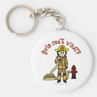 Menina do sapador-bombeiro chaveiros