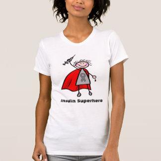 Menina do super-herói da insulina do diabetes camiseta