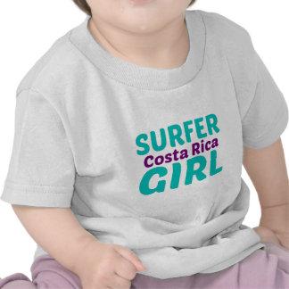Menina do surfista de Costa Rica Camiseta