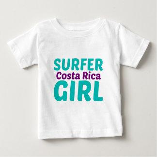 Menina do surfista de Costa Rica Tshirts