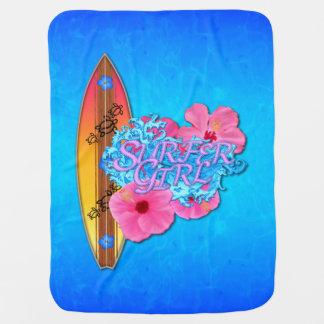 Menina do surfista manta para bebe