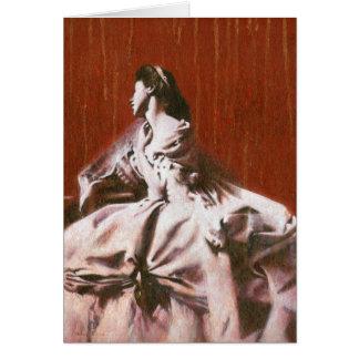 Menina do Victorian no cartão de cumprimentos
