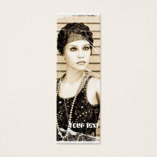 Menina do vintage, efeito velho da foto cartão de visitas mini