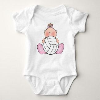 Menina do voleibol de Lil Body Para Bebê