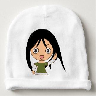 Menina dos desenhos animados - chapéu das meninas gorro para bebê