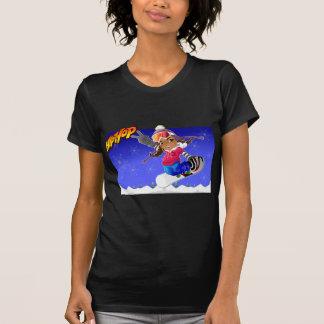 Menina dos desenhos animados de Hip Hop no Tshirt