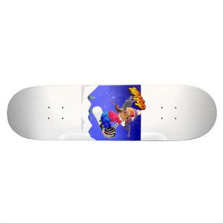 Menina dos desenhos animados de Hip Hop no Shape De Skate 20,6cm