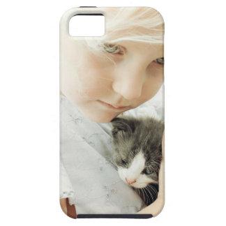 Menina e gatinho capa para iPhone 5