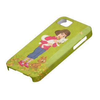 Menina e o exemplo engraçado do universal do capas para iPhone 5