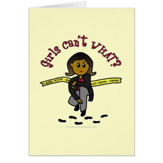 Menina escura de CSI Cartão Comemorativo