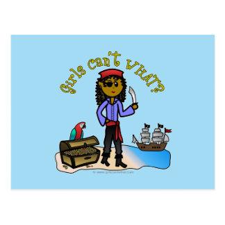 Menina escura do pirata cartão postal