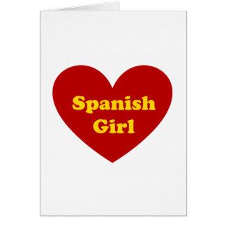 Menina espanhola cartão comemorativo