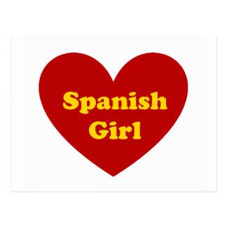 Menina espanhola cartão postal