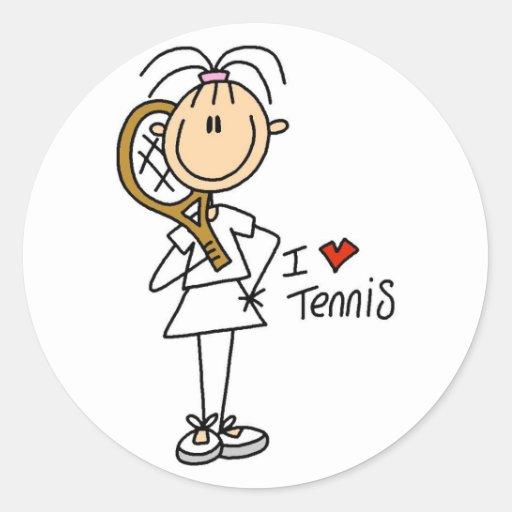 Menina eu amo etiquetas do tênis adesivo redondo
