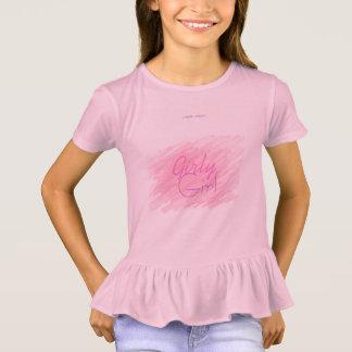 Menina feminino camiseta
