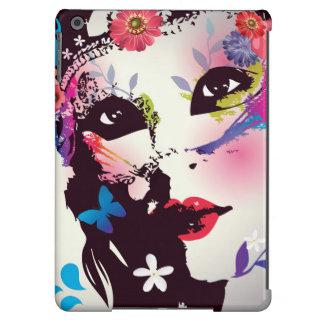 Menina floral à moda com a caixa do ar de Ipad da Capa Para iPad Air