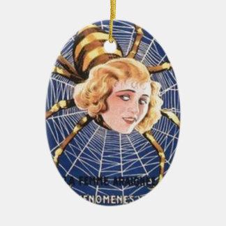 Menina francesa da aranha ornamento de cerâmica