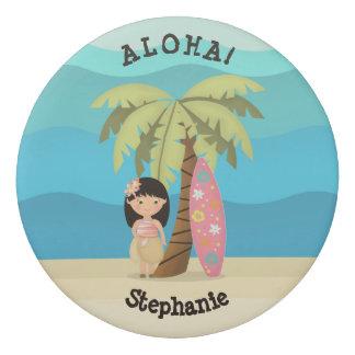 Menina havaiana do surfista borracha