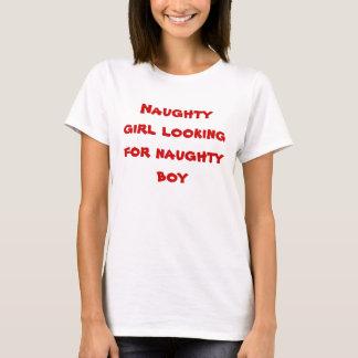 Menina impertinente camiseta