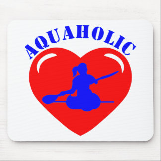 Menina Kayaking do amor Mouse Pad